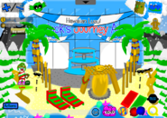 Holly Jolly Party Airport Entrance