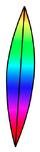 Rainbow Surfboard