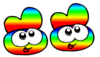 Rainbow Slippers