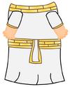 White Egyptian Toga