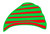 Festive Red and Green Hat