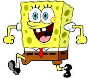SpongeBob Walking