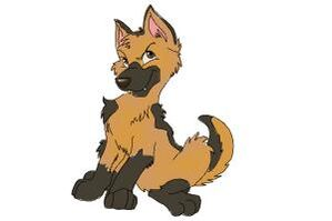 How-to-draw-a-german-shepherd-puppy