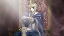 Saber new king of knights