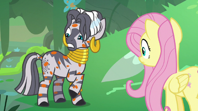 Zecora notices she's covered in orange spots S7E20