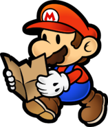 Mario with map