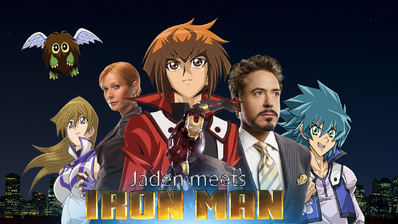 Jaden meets Iron Man Poster