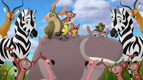 Lion Guard- Makin' Hippo Lanes! - Beshte and the Hippo Lanes HD Clip