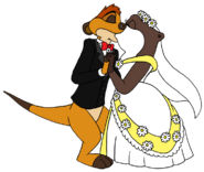 Timon and marlene wedding kiss by lionkingrulez-d535b6q