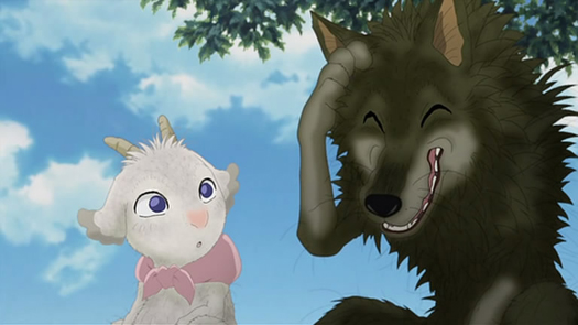 Mei The Goat And Gabu Wolf Are Main Characters From A Japanese Animated Movie Called Arashi No Yoru Ni During Stormy Night They Both Took