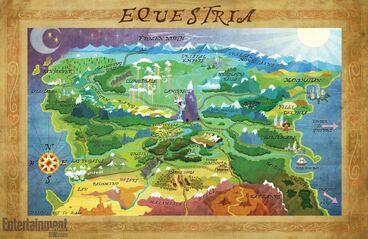 Map of Equestria April 2013