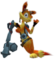 Daxter with spray gun render