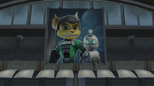 File:Ratchet and Clank cameo poster from Jak II.png