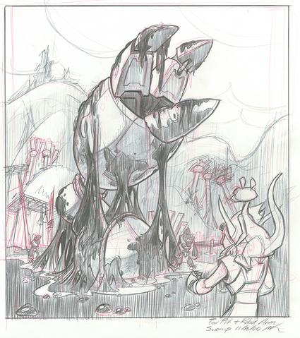 File:Precursor robot arm in Boggy Swamp concept art.png
