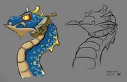 Sand worm concept art