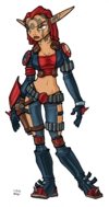 Ashelin from Jak II concept art