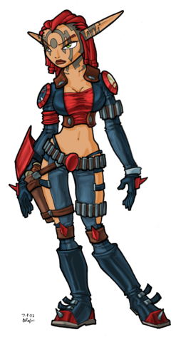 File:Ashelin from Jak II concept art.png