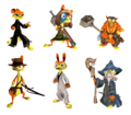Dream mode Daxter characters.png