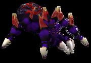 Dark ghoul spider render