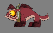 Lurker puppy concept art