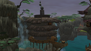 Blue Sage's hut exterior