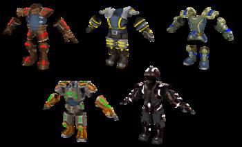 The Lost Frontier armor render