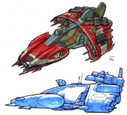 Krimzon Guard cruisers concept art