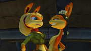 Daxter and Tess about to kiss