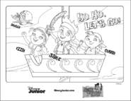 Jake and the NeverLand Pirates Coloring Sheet - Jake and his crew