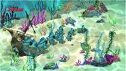 Mad Pirate Piranhas were chasing Undersea Pirate Team - Attack of the Pirate Piranhas