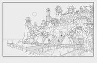Ext forbidden city shore docks night revised