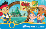 Jake and the Neverland Pirates' Disney Gift Card