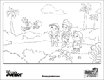 Jake and the NeverLand Pirates Coloring Sheet - Skully and Winger