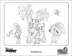 Jake and the NeverLand Pirates Coloring Sheet - Celebrating