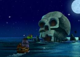 Bucky sailing to Skull Rock