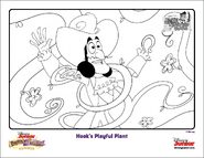 Jake and the NeverLand Pirates Summer Coloring Sheet - Hook's Playful Plant