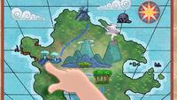 Birdbath Bluff on Cubby's map-Happy Hook Day!