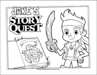Jake's Story Quest Coloring Page 1