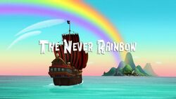 The Never Rainbow title card