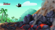 Bucky flies away - March of the Lava Monsters
