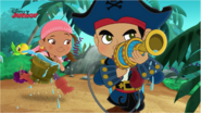 Watering Captain Jake and Izzy - March of the Lava Monsters