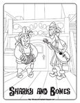 Disney Coloring Pages-JNP Sharky and Bones