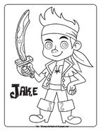 Coloring sheet - Captain Jake