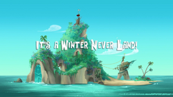 It's a Winter Never Land title card