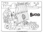 Coloring sheet - Bucky the Pirate Ship
