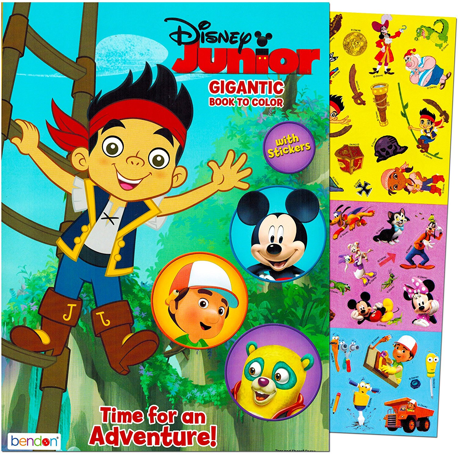 Image - Disney Junior Gigantic Coloring Book.jpg | Jake and the ...
