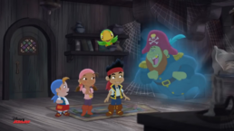 Jake and crew with Treasure Tooth-Pirate Ghost Story