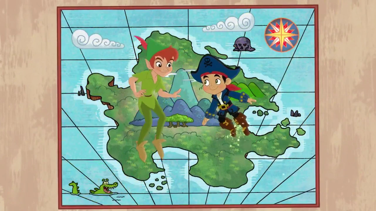 Jake And The Neverland Pirates Cubbys Map Image - Jake-Ca...