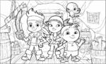 Jake and the NeverLand Pirates Coloring Sheet