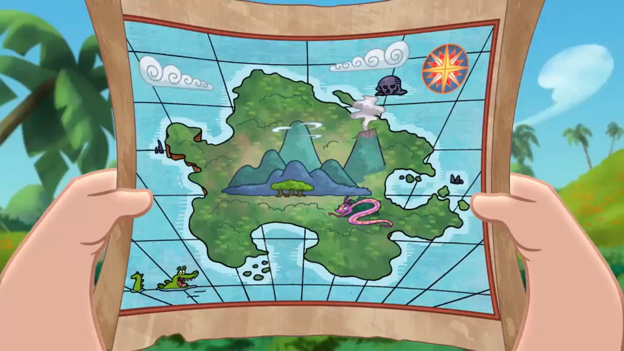 Jake And The Neverland Pirates Cubbys Map Image - Map-Esc...